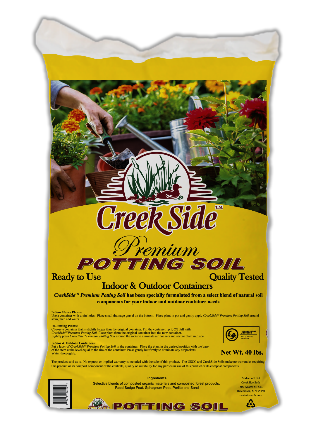 CreekSide bag of Premium Potting Soil